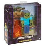 Minecraft Surtido Figuras Accion Especial Zombi En Llamas