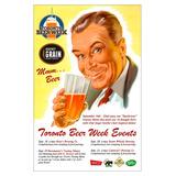 Poster Antiga Propaganda De Cerveja Decoração Vintage Bares