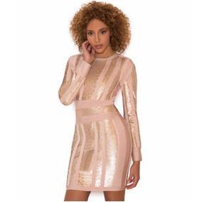 Vestido Mujer Bandage Original Talla S Y M