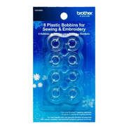 Bobinas Brother De Plástico Transparente 8pz De11.5 Mm/sa156