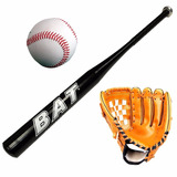 Set Beisbol Infantil Guante Bate Aluminio Pelota Niño Fabans