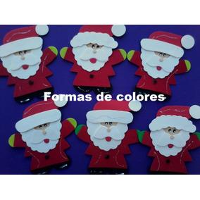 Figura-aplique Papa Noel En Goma Eva -x8 Unidades