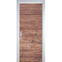 Adesivo Decorativo De Porta - Texturas Madeira 7 M