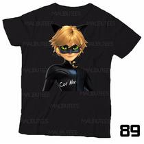 Lembrança De Aniversário Cat Noir Camiseta Miraculous