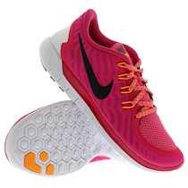 Tenis Nike Free 5.0 Dama Rosa/negro