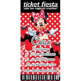 Mimi Invitaciones Ticket Producto Personalizado