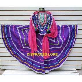 Vestido Jalisco Tallas 12- 14 Y 16 Con Rebozo Envio R12