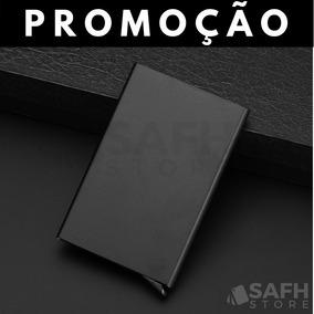 Porta Cartões De Crédito Premium Alumínio Minimalista Pop-up