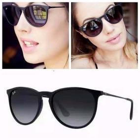 Oculos Feminino Masculino Preto Fosco Redondo S/ Espelhado