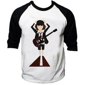 Camisa Raglan 3/4 Acdc Hard Rock Album Back Hell Tnt #5