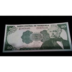 Billete De 20 Bolivares 1990 Serial Z . Unc Consecutivos