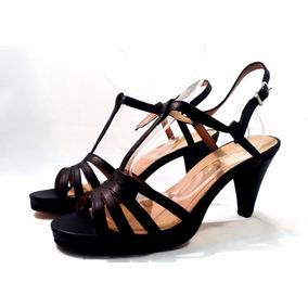 Sam123 Zapatos Taco Fiesta Cuero Talles Grandes 6530 Negro