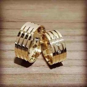 Par Alianca Cor De Ouro 10mm, Casamento Noivado Moeda Antiga