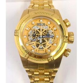 Relógio Invicta Original 12763 Bolt Zeus Dourado Novo Ktw001