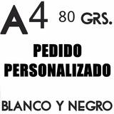 Impresion 2 Word Byn Bifaz A4 + Anillado + Tapa + Contratapa