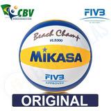 Bola Volei Praia Mikasa Vls 300 Oficial Cbv Prof. Original