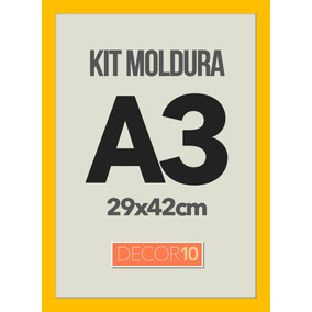 Kit C/ 3 Molduras Quadro P/ Poster A3 Personalizado
