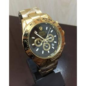 Rolex Relógio Daytona Aço Dourado Prata Top
