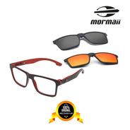 Armação Óculos Grau Mormaii Swap Duo Polarizado + 2 Clip-on