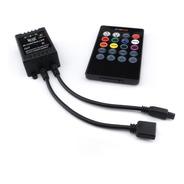 Controlador Rgb Audiorítmico Musical Control Ir Tira Led @tl