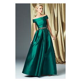 Vestidos de noche en verde esmeralda