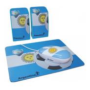 Kit Mouse Pad Parlantes Arg - Pc Notebook Computadora