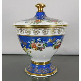 Copón Tapa Porcelana Alemana Rudolf Wachter Bavaria Siglo 20