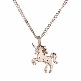 Collares Collar Unicornio Dorado Plata Mayoreo Barato