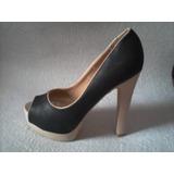 Sexy Zapato Negro Plataforma Numero 38..unico