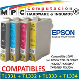 Kit 4 Cartuchos Comp Epson T133 Tx235w/420w/430w/tx320f New