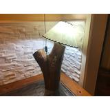Lámpara Rústica En Madera