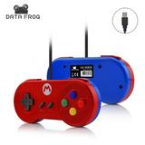 2 Controle Para Nintendo Snes Controlador Usb Luidi E Mario