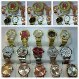 Kit Com 10 Relógios Feminino+caixa De Lata Atacado Lote Luxo