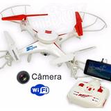 Drone Fq777 Ml2121 + Câmera Wi-fi Fpv Veja Filmagem Ao Vivo!