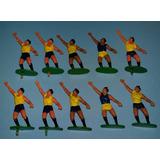 Lote De 10 X Arquero Jugador Futbol Plastico Retro Miniatura