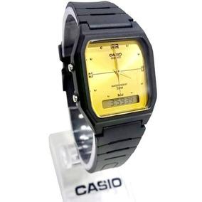 390dffff690 Aw-48he 9av Relógio Casio Ana Digi Preto Dourado Autêntico. R  173 90