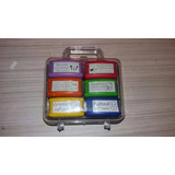 Kit Com 6 Carimbos Pedagógicos - Brinde Maleta