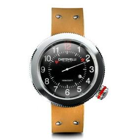 Reloj Chotovelli Gauge Hombre Alfa Romeo Correa De Cuero Ta