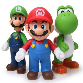 Coleção Mario Luigi Yoshi Kit 3 Bonecos - Pronta Entrega