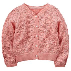 Sweater Cardigan Carter´s Talle 4 Años Tejido Calado