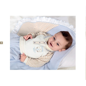 Kit Saida De Maternidade Bebê Menino Paraiso Azul Claro 7040