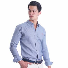 Camisa La C Detalle En Tela Ancla Naranja
