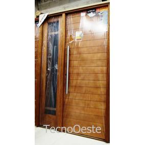 Portada Puerta 80 + 1 Lateral Oblak 2331 Madera Con Vidrio!!