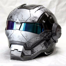 Capacete Motociclista Iron Man Importado Moto Exclusivo!!