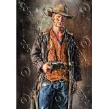 Placa Vintage King Mdf 39x27 Velho Oeste Cowboy Bc.04461