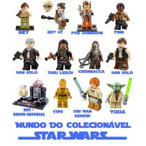 Kit 43 Bonecos Star Wars Diferentes - Formato Lego + 2 Naves