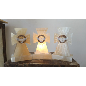 Set De 10 Piezas De Lampara De Cruz En Onix, Espíritu Santo