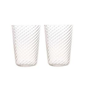 Cardo Set De 2 Vasos De Vidrio Puro Soplado - Transparente