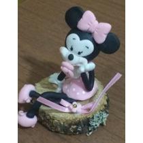 Souvenirs Minnie Bebe Realizados En Porcelana Fría