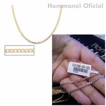 Corrente Masculina Folheada A Ouro 18k Diamantada Hommanel